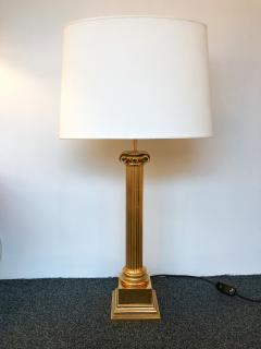 Pair of Lamps Brass Neo Classical Column by Jordan United Kingdom 1980s - 520575