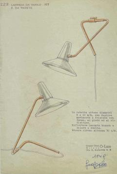 Pair of Large 1950s Giuseppe Ostuni White Articulating Arm Sconces for O Luce - 2057381