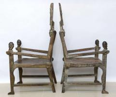 Pair of Large African Rootwood Armchairs Late 19th Early 20th Century - 364282