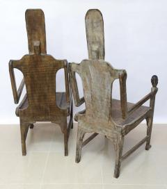Pair of Large African Rootwood Armchairs Late 19th Early 20th Century - 364284