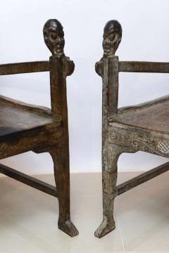 Pair of Large African Rootwood Armchairs Late 19th Early 20th Century - 364285