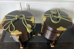 Pair of Large Antique Japanese Hokai Lacquer Boxes - 1986960