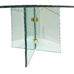 Pair of Large Artisan Italian Glass End Tables 1970s - 1450505