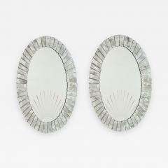 Pair of Large Artisan Venetian Art Deco Sunset Mirrors 1930s - 2144813