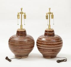 Pair of Large Ceramic Lamps - 1924263