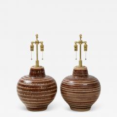 Pair of Large Ceramic Lamps - 1926961