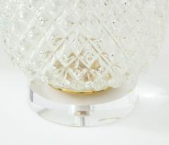 Pair of Large Cut Glass Pineapple Lamps - 1826497