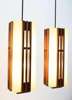 Pair of Large Frank Lloyd Wright Style Chandeliers Pendants - 1271688