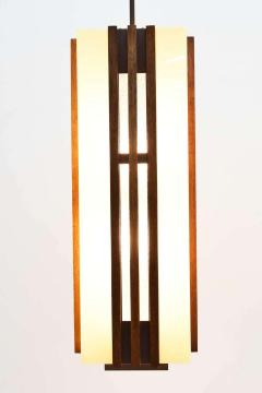 Pair of Large Frank Lloyd Wright Style Chandeliers Pendants - 1271689