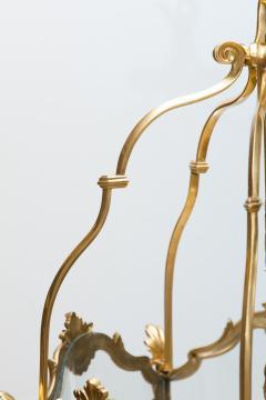 Pair of Large Louis XV Style Gilt Bronze Lanterns 19th Century - 581472