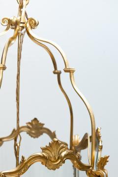 Pair of Large Louis XV Style Gilt Bronze Lanterns 19th Century - 581476