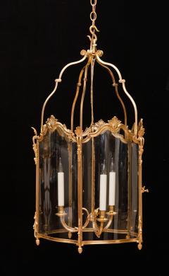 Pair of Large Louis XV Style Gilt Bronze Lanterns 19th Century - 581477