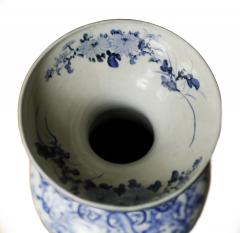 Pair of Large Meiji Period Blue and White Porcelain Vases - 803576