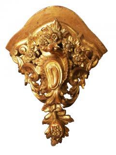 Pair of Large Mid 18th Century Venetian Rococo Gilt Corner Brackets - 426024