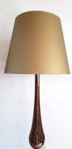 Pair of Large Mid Century Modern Mirrored copper color Murano Glass Floor Lamps - 1002770