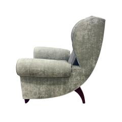 Pair of Large Sculptural French Wing Chairs 1930s - 665364