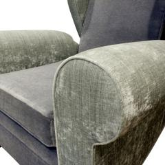 Pair of Large Sculptural French Wing Chairs 1930s - 665368