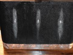 Pair of Large Shagreen and Resin with Brass Shades - 1008891