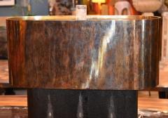 Pair of Large Shagreen and Resin with Brass Shades - 1008896