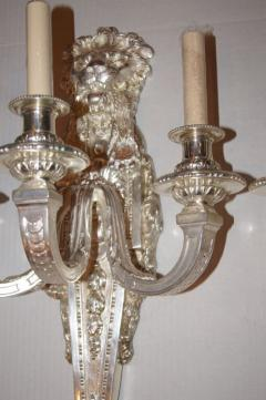 Pair of Large Silver Plated Sconces - 657430