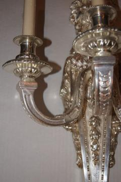 Pair of Large Silver Plated Sconces - 657431