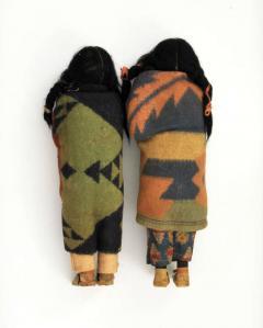 Pair of Large Skookum Dolls Circa 1940 1950 Native American - 44023