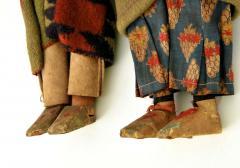 Pair of Large Skookum Dolls Circa 1940 1950 Native American - 44024