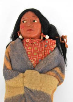 Pair of Large Skookum Dolls Circa 1940 1950 Native American - 44025