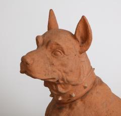 Pair of Large Terra Cotta Great Dane Dog Statues - 1015678