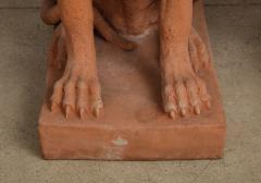 Pair of Large Terra Cotta Great Dane Dog Statues - 1015681