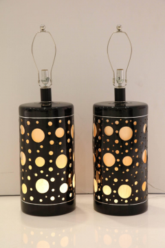 Pair of Large mid century Modern Lamps  - 1191815