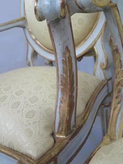 Pair of Late 18th Century Italian Neoclassic Armchairs - 1912486
