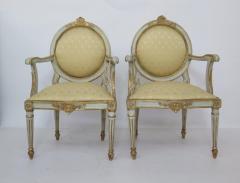 Pair of Late 18th Century Italian Neoclassic Armchairs - 1912488