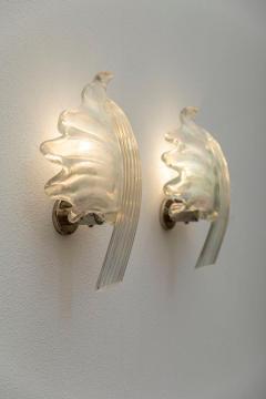 Pair of Leaves Barovier Sconces - 1835055