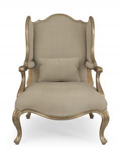 Pair of Louis XV Gilt Wing Berga Chairs - 1401695