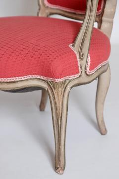Pair of Louis XV Painted Fauteuils - 2003127