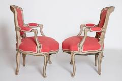 Pair of Louis XV Painted Fauteuils - 2003133