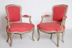 Pair of Louis XV Painted Fauteuils - 2003134