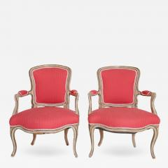 Pair of Louis XV Painted Fauteuils - 2028441