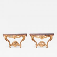Pair of Louis XV Period Wall Mount Console Tables circa 1740 - 2028440