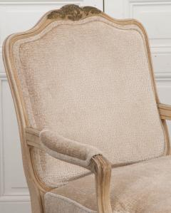 Pair of Louis XV Style Cr me Peinte and Gold Gilt Fauteuils - 925250