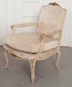 Pair of Louis XV Style Cr me Peinte and Gold Gilt Fauteuils - 925254