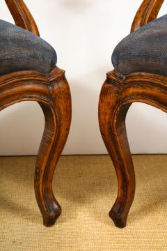 Pair of Louis XV Style Walnut Fauteuil - 735777