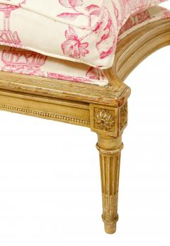 Pair of Louis XVI Style Berg res with Ottoman - 1099990