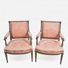 Pair of Louis XVI Style Fauteuils - 1206140