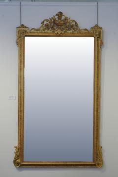 Pair of Louis XVI Style Giltwood Pier Mirrors c 1840 - 1108815