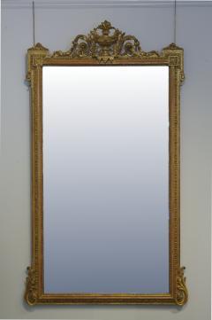 Pair of Louis XVI Style Giltwood Pier Mirrors c 1840 - 1108816