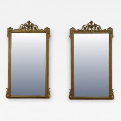 Pair of Louis XVI Style Giltwood Pier Mirrors c 1840 - 1108862