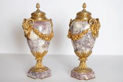 Pair of Louis XVI Style Marble Cassolettes with Gilt Bronze Mounts - 2006812