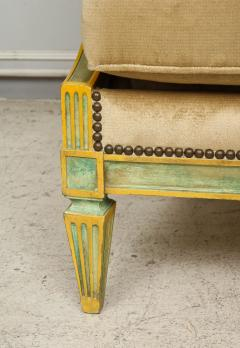 Pair of Louis XVI Style Painted Bergeres Attributed to Maison Jansen - 1112860